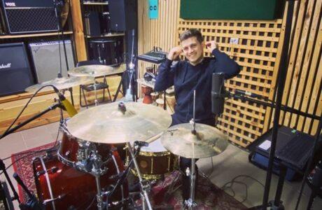 Запис барабанів для групи Grayshapes у студії звукозапису Checkpoint